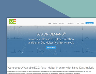 A screenshot of ECG On-Demand's website